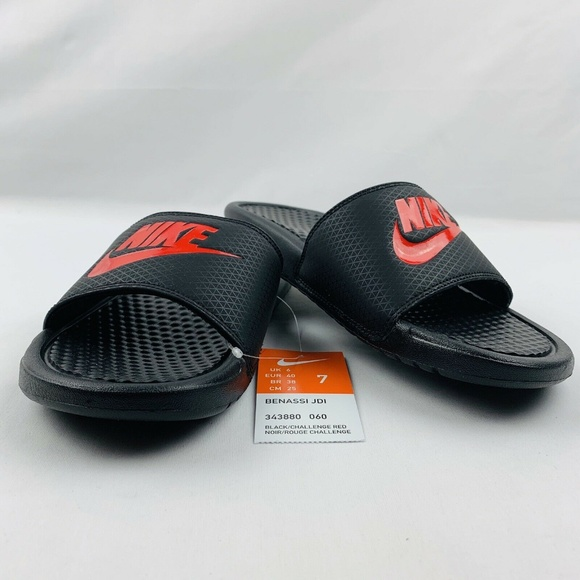 Nike Other - New Nike Benassi Jdi Mens Slide Sandals  Black/ Ch
